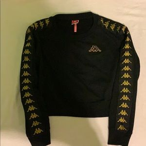 KAPPA 222 BLACK-GOLD CROP TOP